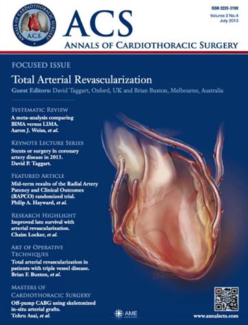 Annals Of Cardiothoracic Surgery Tristan Yan